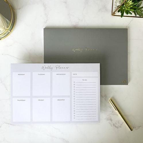 Weekly Planner Notepad - Grey