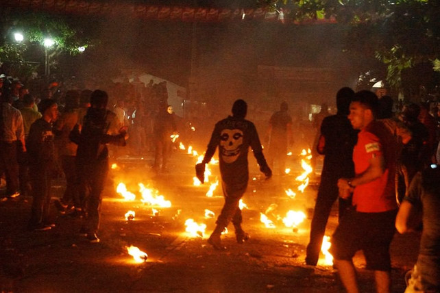 """El Festival de las """"Bolas de Fuego"""" de Nejapa"""