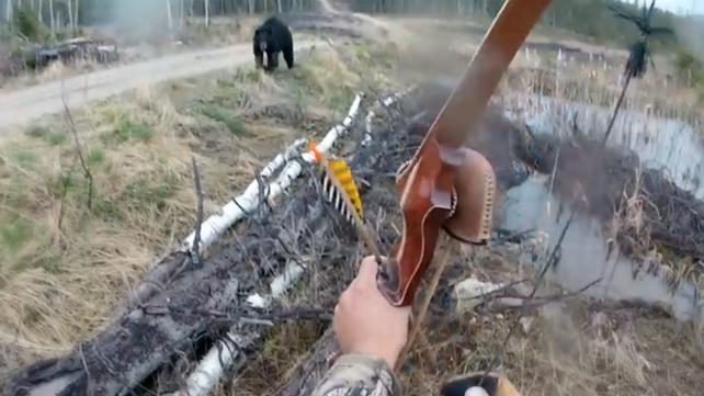 Un cazador graba el escalofriante momento en el que sufre el ataque de un oso negro (video)