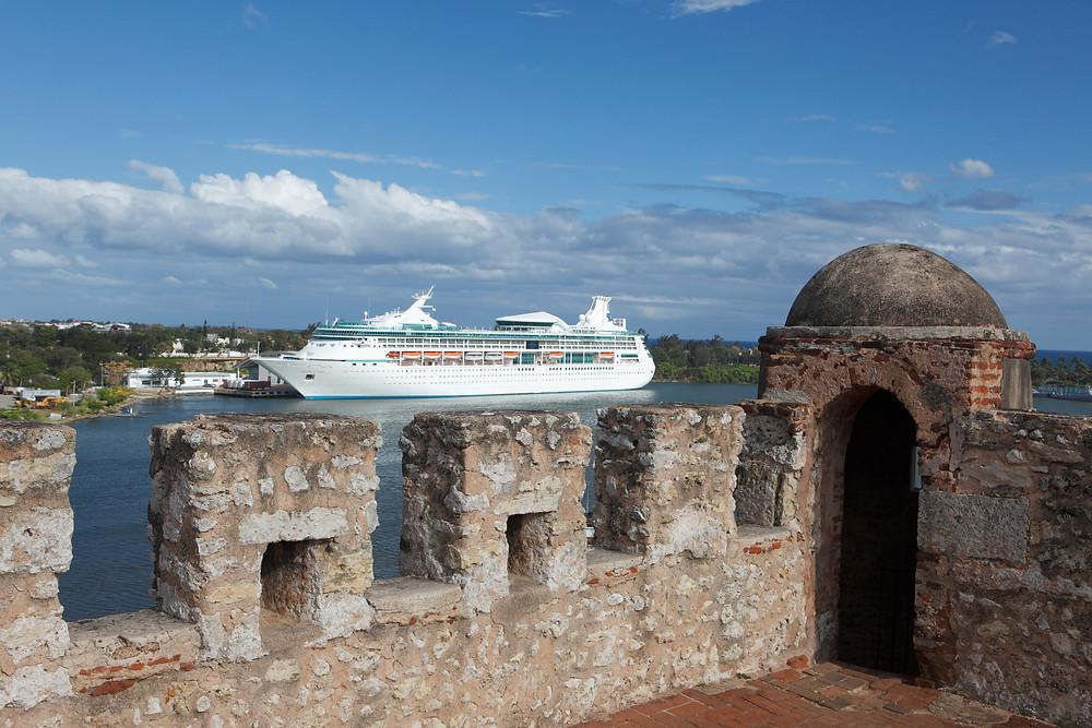 Entrada del puerto de Santo Domingo