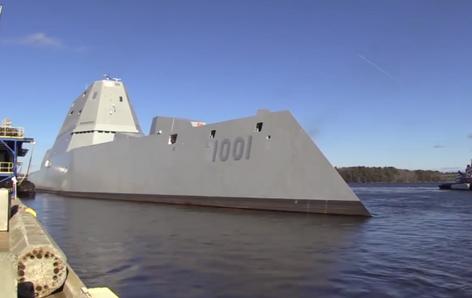 La Armada de EE.UU. bota su segundo destructor del futuro, el más poderoso del mundo (video)
