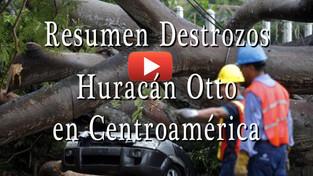 Resumen de los destrozos del Huracán Otto en Centroamérica
