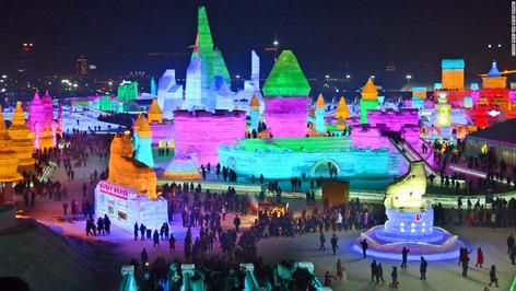 El Espectacular Festival de Hielo de Harbin, en la ciudad más fría de China (video)