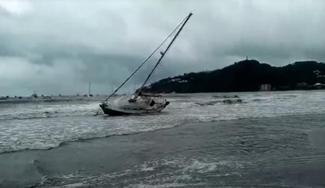 Oleaje de Nate expulsa 19 embarcaciones en San Juan del Sur, Nicaragua (video)