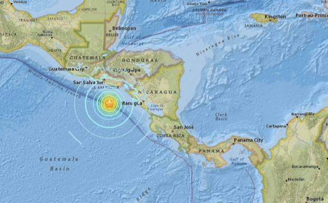 Retiran alerta de tsunami tras terremoto en Nicaragua