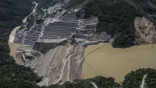 Carrera contra reloj en Colombia  reparando dique que podría desplomarse en la represa Hidroituango