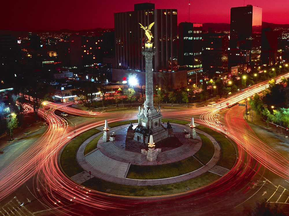 El monumento de El Angel, México DF