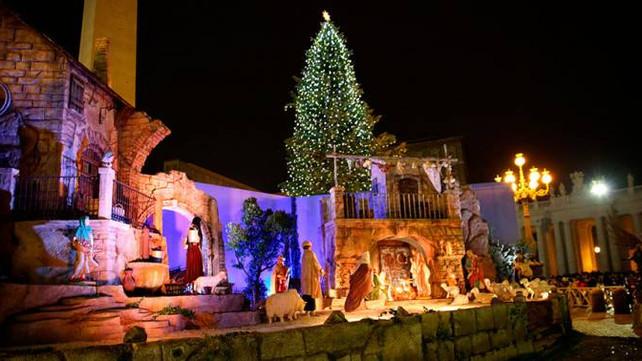Encienden el arbolito de navidad en el Vaticano