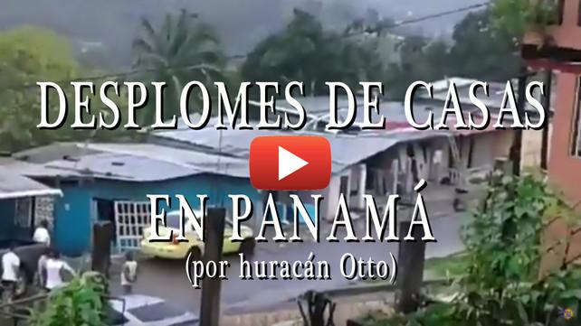 Impresionante desplome de viviendas Captado en video en Panamá II (video completo)