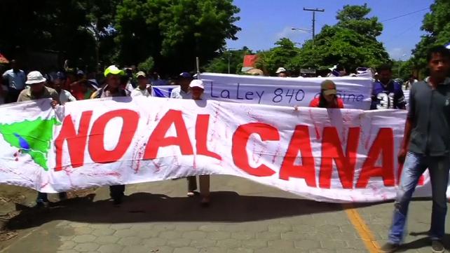 Protestas en la turística Isla Ometepe contra construcción del Canal de Nicaragua (video)