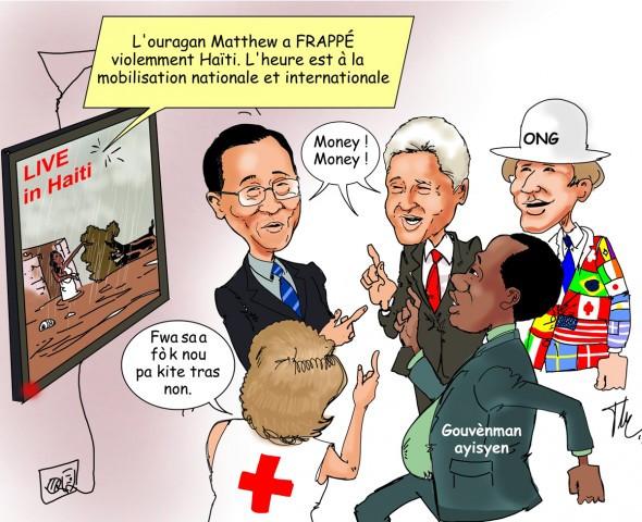 Denuncian negocio de ayuda a Haiti