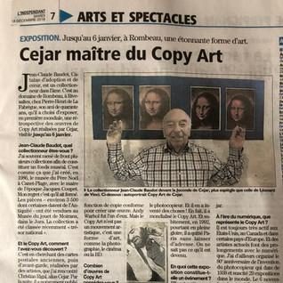 Article du journal L'Indépendant du 18 décembre 2018