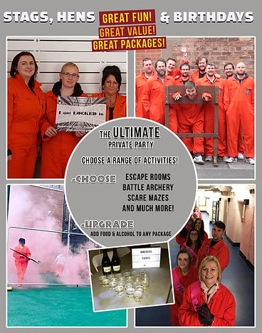 Shepton Mallet Prison stags hens and birthdays