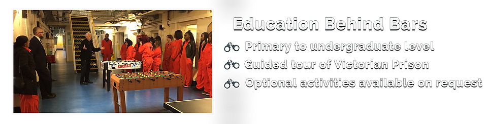 educational school visits and places to take school children to shrewsbury prison in shropshire