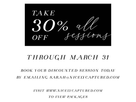 All Sessions Now 30% Off!