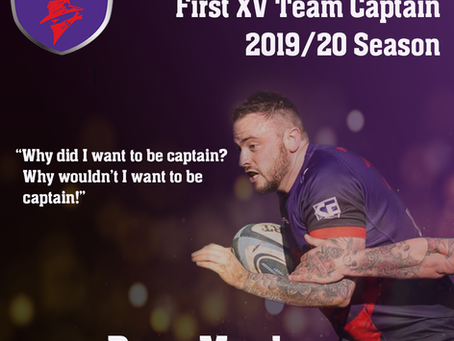 INTRODUCING OUR 2019/20 CAPTAIN