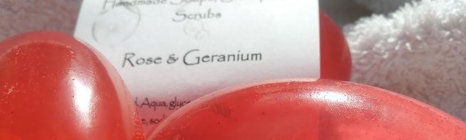 Rose & Geranium Glycerine Soap