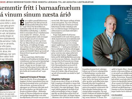 Viðtal við Ævar um átakið og nýja jólabók!
