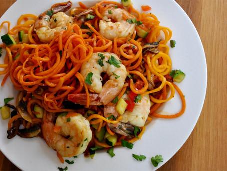 """Asian Shrimp and """"Noodles"""""""