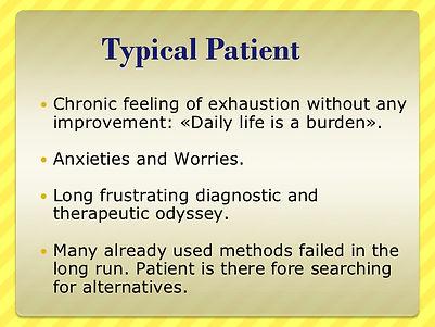 Adrenal fatigue typical patient complaints
