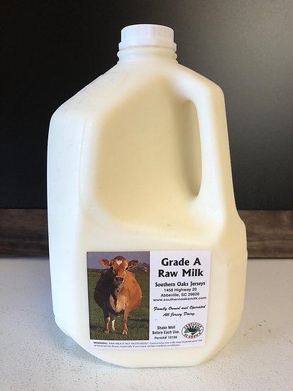 1 gallon Raw Milk