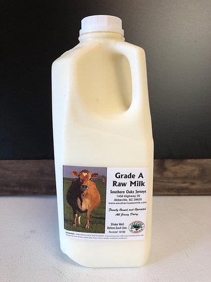 Half gallon Raw Milk