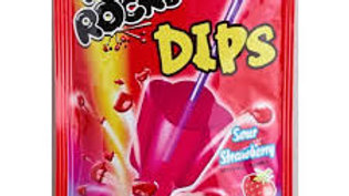 Pop Rocks Dips Sour Strawberry 18g