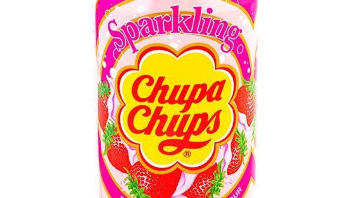 Chupa Chups sparkling strawberry cream flavour 345ml