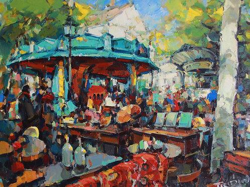 """Eugene Fridlin """"Montmartre. Flea market"""""""