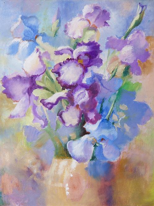 "Elena Tyo ""Blue irises"""