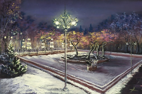 "Olga Gorbenko ""Winter fountain (Akku restaurant)"""
