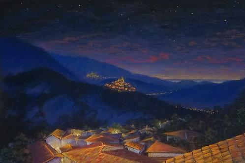 "Olga Gorbenko ""Italy. Lanciano. Evening lights"""