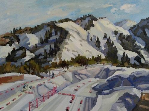 """Zarina Chukitaeva """"Snowy road"""""""