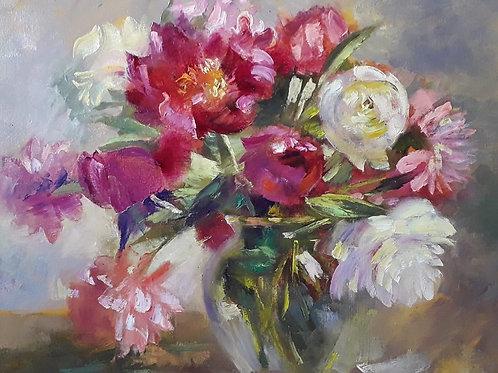 """Elena Tyo """"Peonies in a vase"""""""