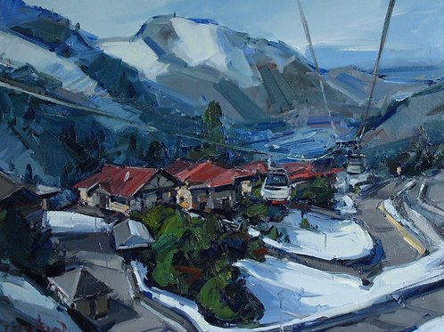 "Eugene Fridlin ""Cable car. Shymbulak"""