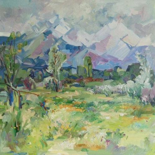 """Zhambyl Natbaev  """"Alatau mountains"""""""