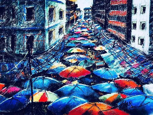 "Moses Zibor ""Umbrellas"""