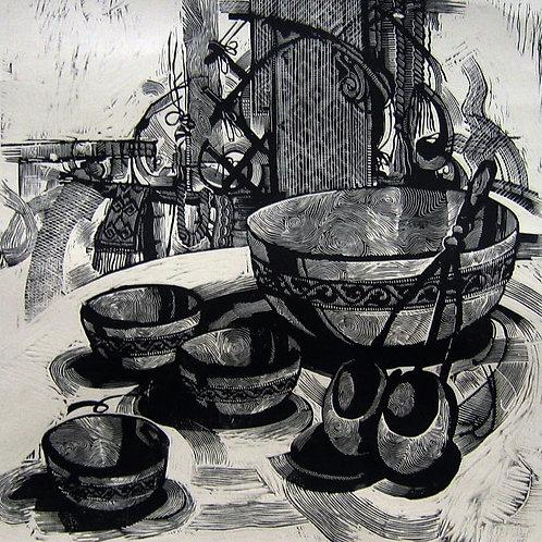 "Baurzhan Naimanov ""Still Life with the Folk Musical Instruments"""