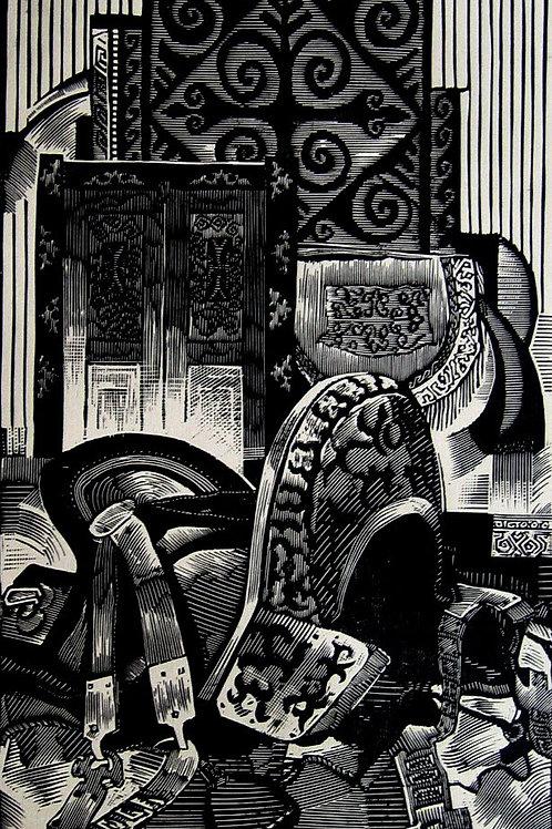 "Baurzhan Naimanov ""Folks Relics. A Saddle"""