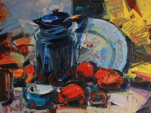 """Eugene Fridlin """"Blue jug"""""""