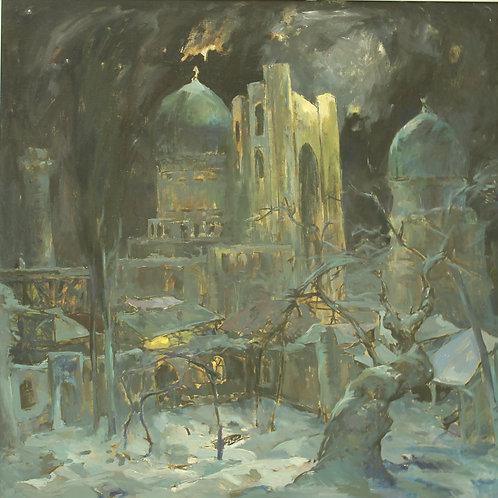 """Zhambyl Natbaev """"Moonlit night of Samarkand"""""""