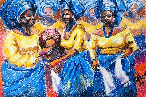"Moses Zibor ""Dancing women"""