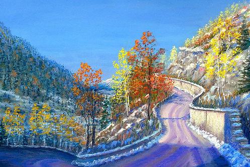 """Olga Gorbenko """"The road to the sanatorium Alma-Arasan"""""""