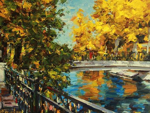 """Eugene Fridlin """"Bridge in Gorky Park"""""""