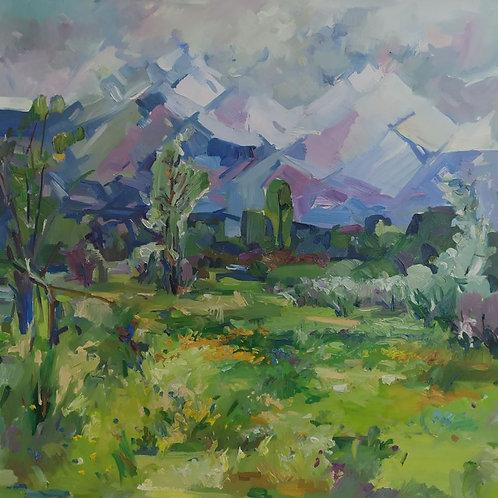 """Zhambyl Natbayev """"Alatau Mountains"""""""