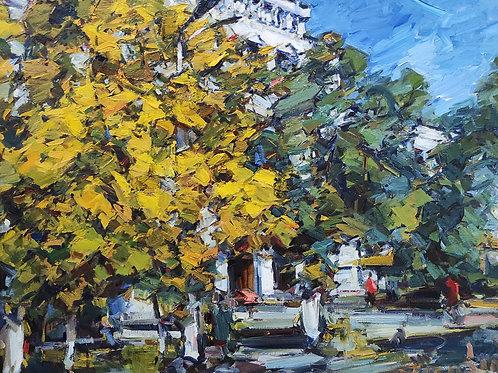 "Eugene Fridlin  ""Alma-Ata. Autumn."""