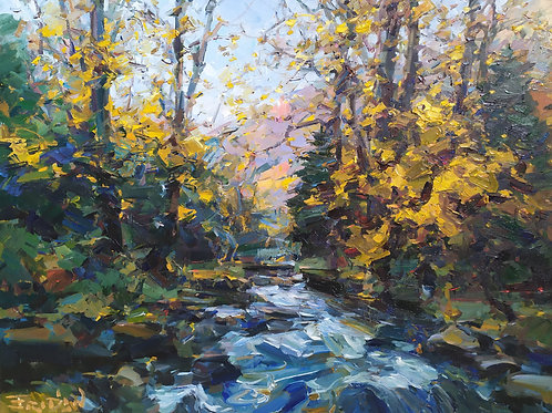 Eugene Fridlin ''Mountain river. October''