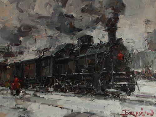 """Eugene Fridlin """"Arrival of the train"""""""