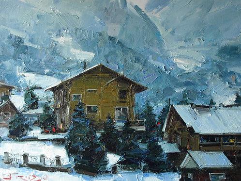 "Eugene Fridlin ""The houses on the way to Tuyuksu"""