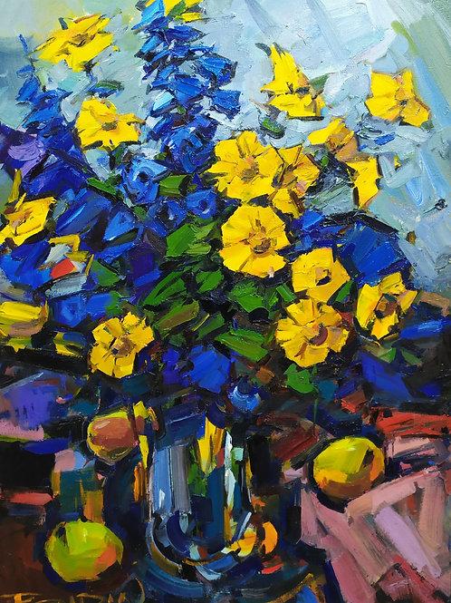 """Eugene Fridlin  """"Garden flowers"""""""
